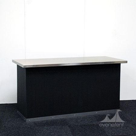 Buffettafel zwart RVS