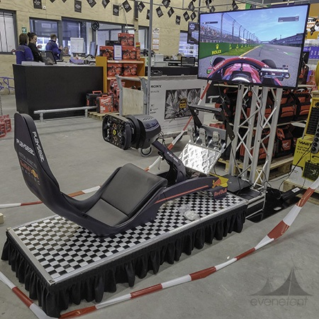 F1 race simulator huren