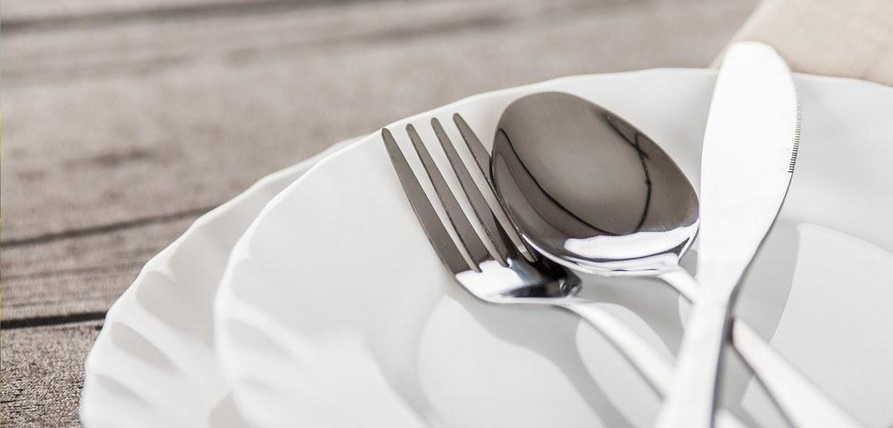 Servies en bestek huren, Villeroy & Boch, mes en vork huren, couvert te huur